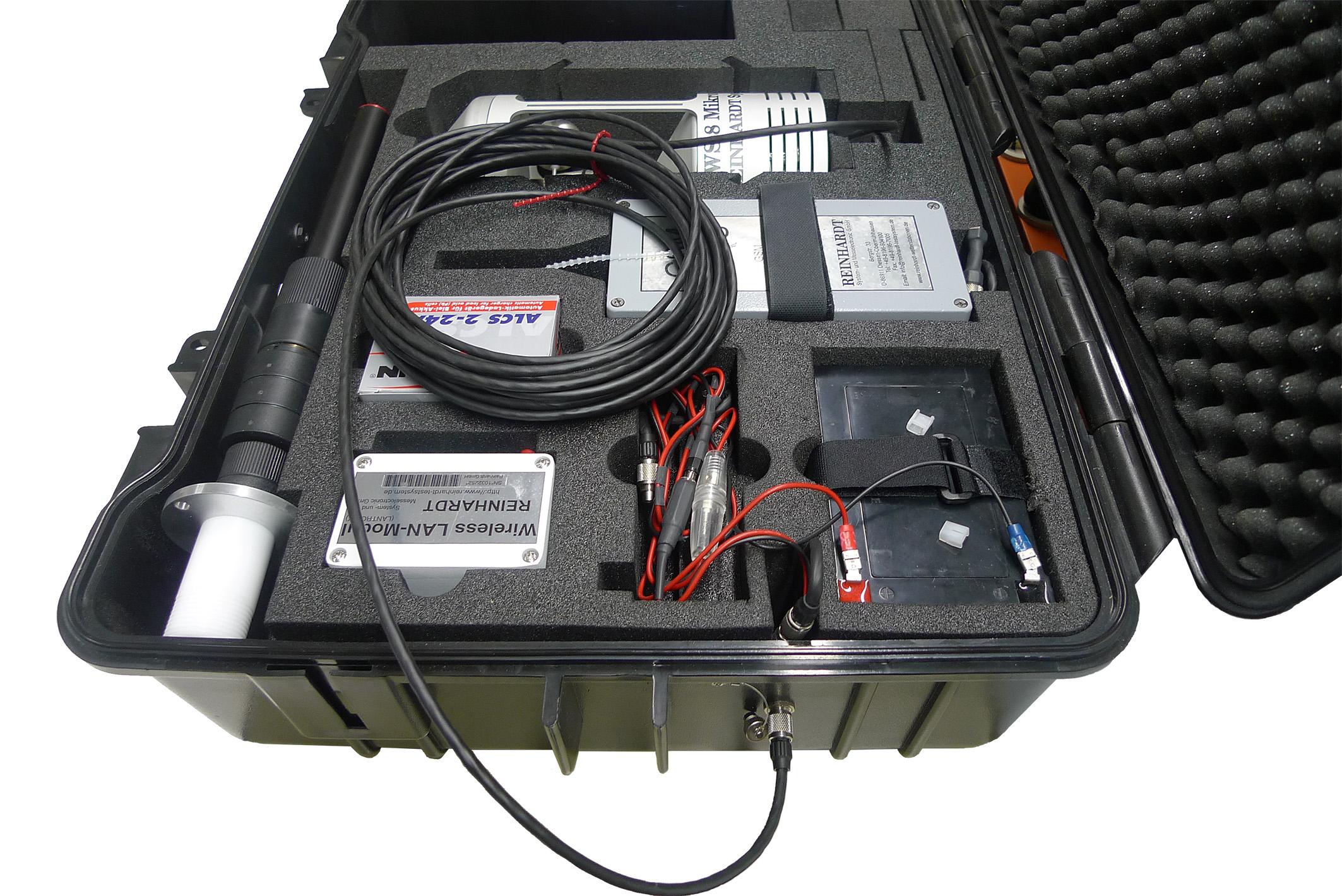 Sensor-Akku mit Verdrahtung